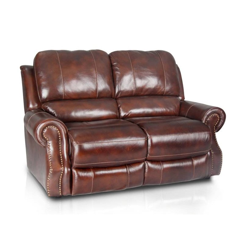 Madison 69 Brown Leather Match Reclining Loveseat
