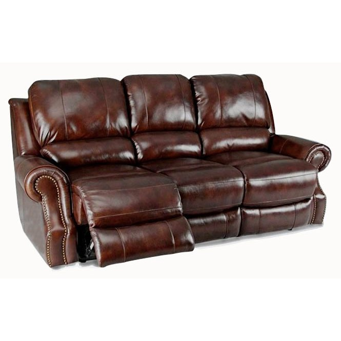 Madison Brown Leather Match Manual Reclining Sofa Loveseat