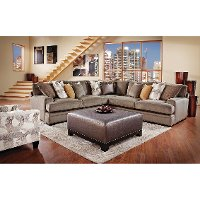 Granite Upholstered 3-Piece Sectional