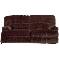 Chocolate Microfiber Power Reclining Sofa - Ayden Collection