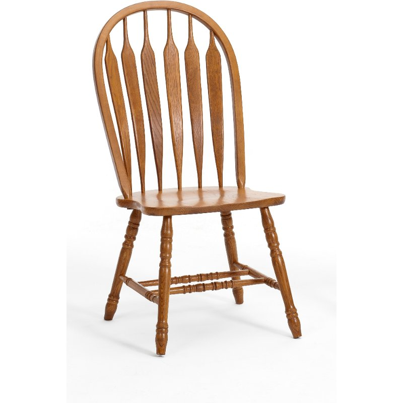 Dining Room Chairs Oak: Country Oak Dining Room Chair With Turned Legs