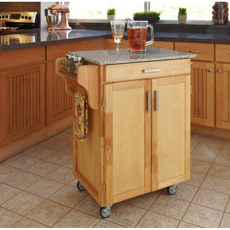 Natural Granite Kitchen Cart