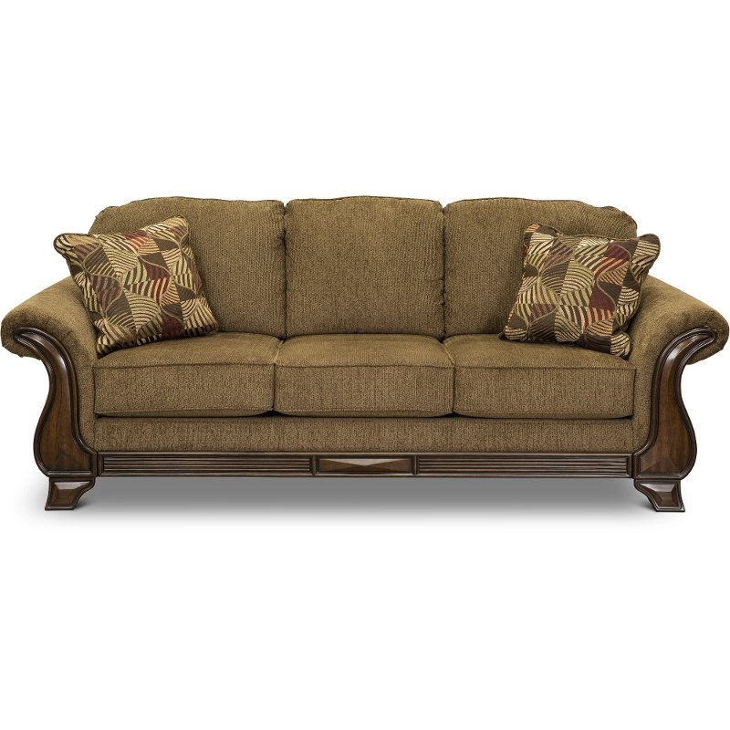 Merveilleux Casual Traditional Mocha Brown Sofa   Montgomery | RC Willey Furniture Store