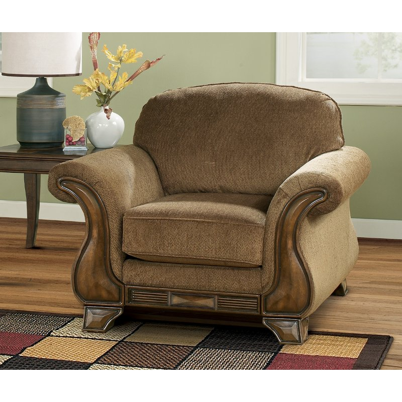 Casual Traditional Mocha Brown Chair Montgomery Rc