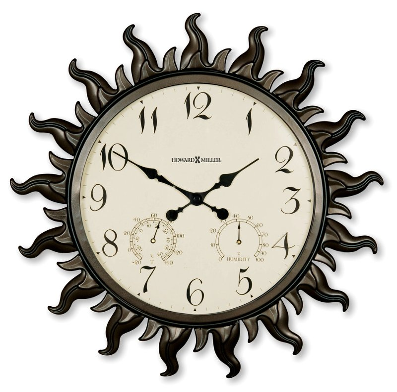 Rc Willey Lehi Ut: Sunburst Indoor-Outdoor Wall Clock