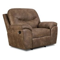 18A-10PALANCERR Ulyses 53  Brown Upholstered Rocker Recliner