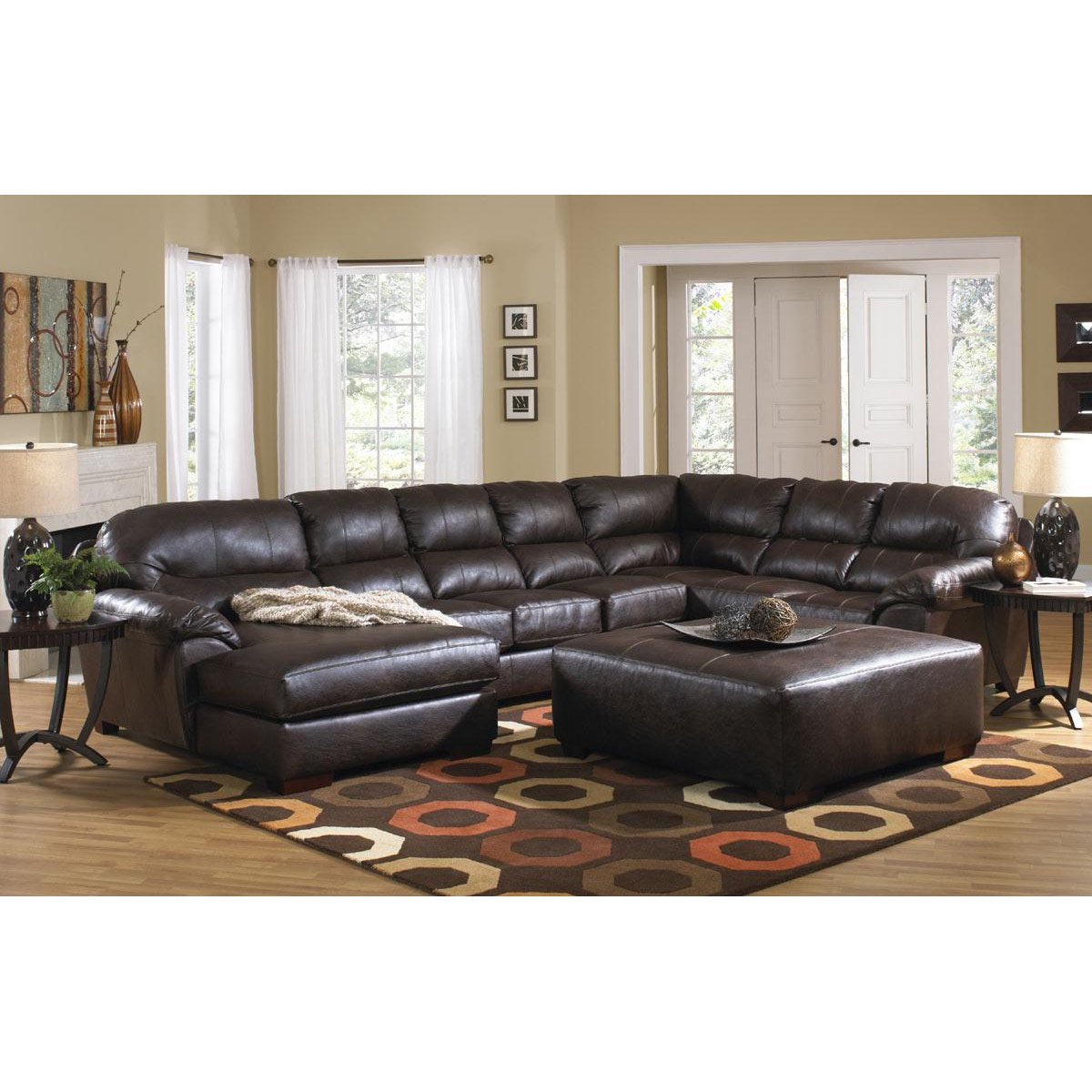 Rc Willey Store: Lawson Brown Upholstered 3 Piece Sectional