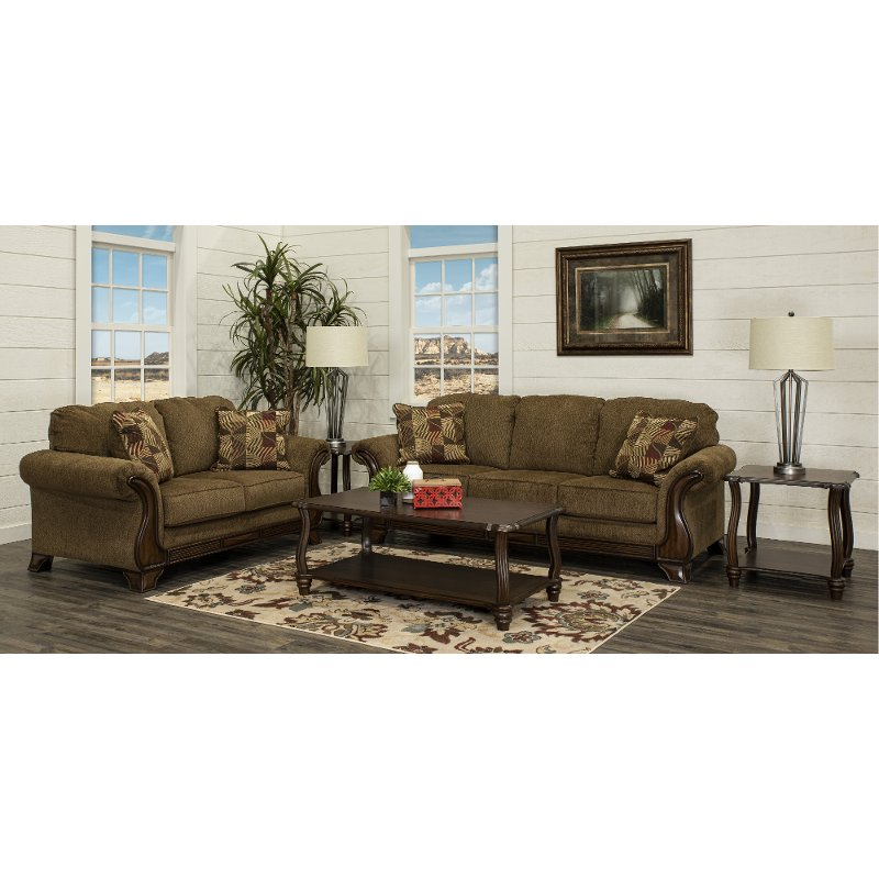 Traditional Brown 5 Piece Living Room Set - Montgomery