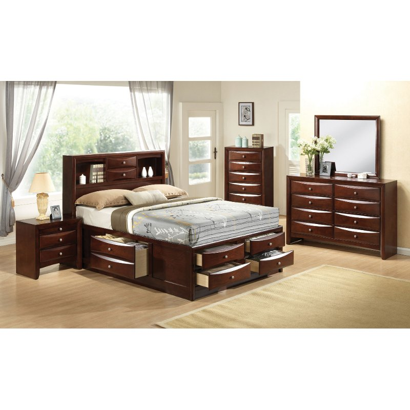 emily 7 piece queen bedroom set