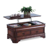 Cherry Lift Top Coffee Table Sheridan Rc Willey Furniture Store