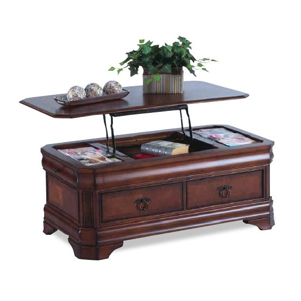 Lift Top Coffee Table Cherry: Cherry Lift Top Coffee Table - Sheridan