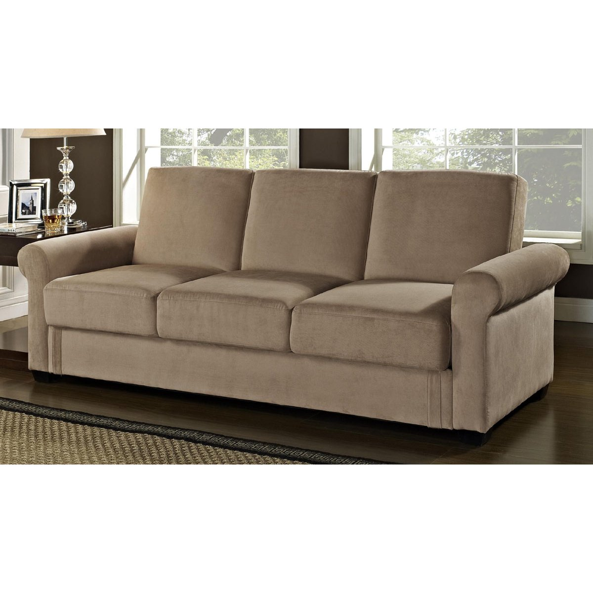 Thomas 87 Brown Upholstered 2 Piece Convertible Sofa  : Thomas 87 Brown Upholstered 2 Piece Convertible Sofa Sleeper rcwilley image1800 from www.rcwilley.com size 1200 x 1200 jpeg 117kB