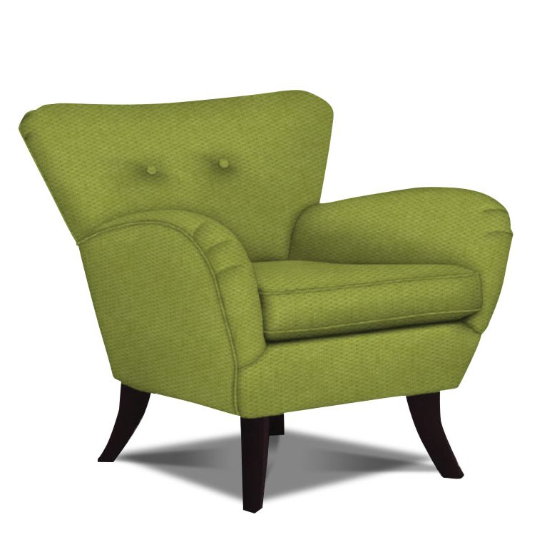 Elnora 33 green upholstered accent chair rcwilley image1 for Upholstered living room chairs sale