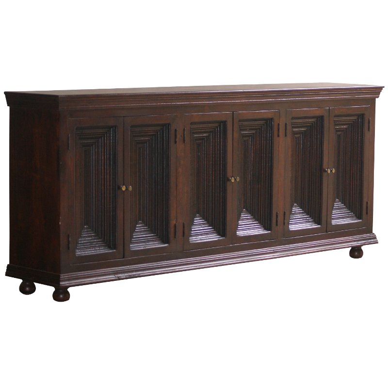 Delicieux Crown Moulding Brown Sideboard