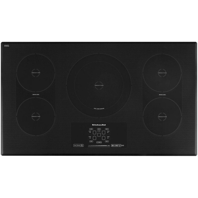 KitchenAid 36 Inch Electric Induction Cooktop   Black | RC Willey Furniture  Store