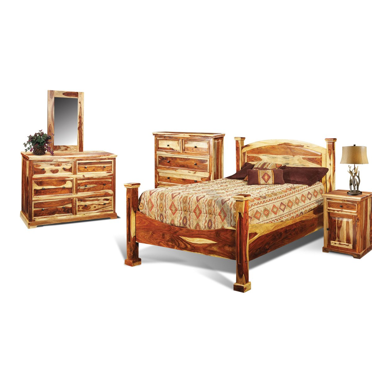 Tahoe Pine Rustic 6 Piece King Bedroom Set
