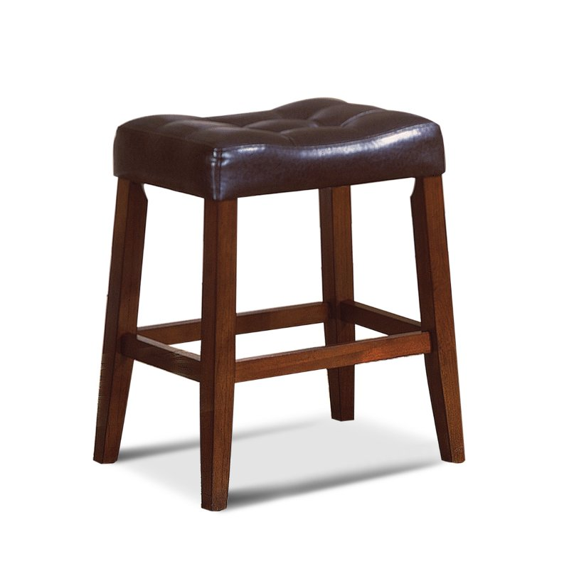 Espresso Saddle Counter Height Stool Rc Willey Furniture
