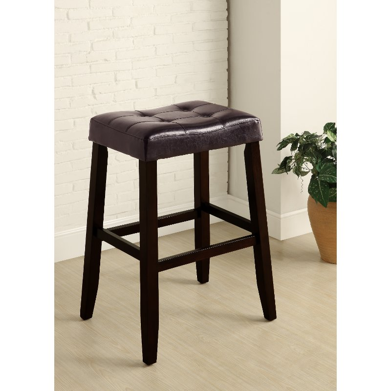 Espresso Saddle Bar Stool Rc Willey Furniture Store