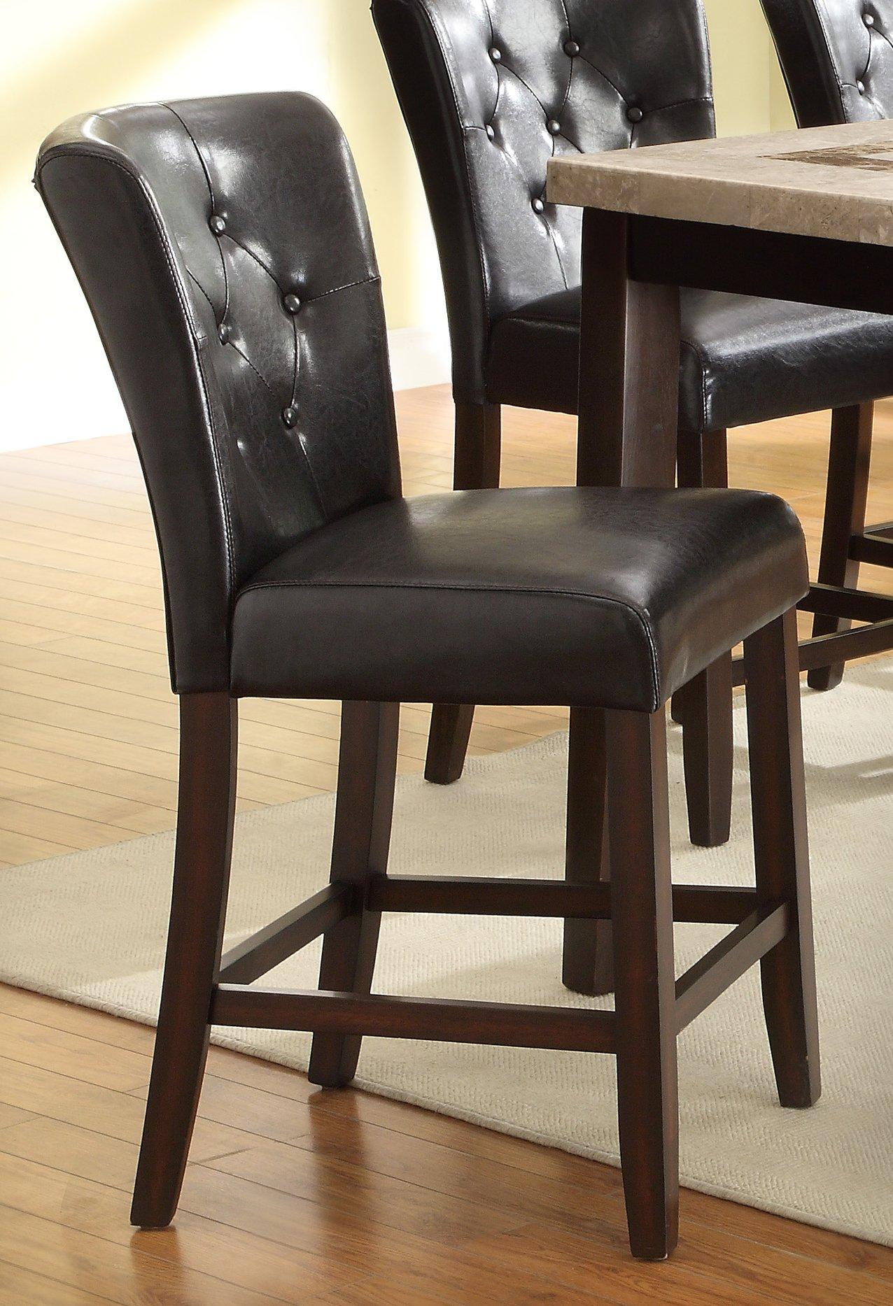 Espresso Contemporary 5 Piece Counter Height Dining Set