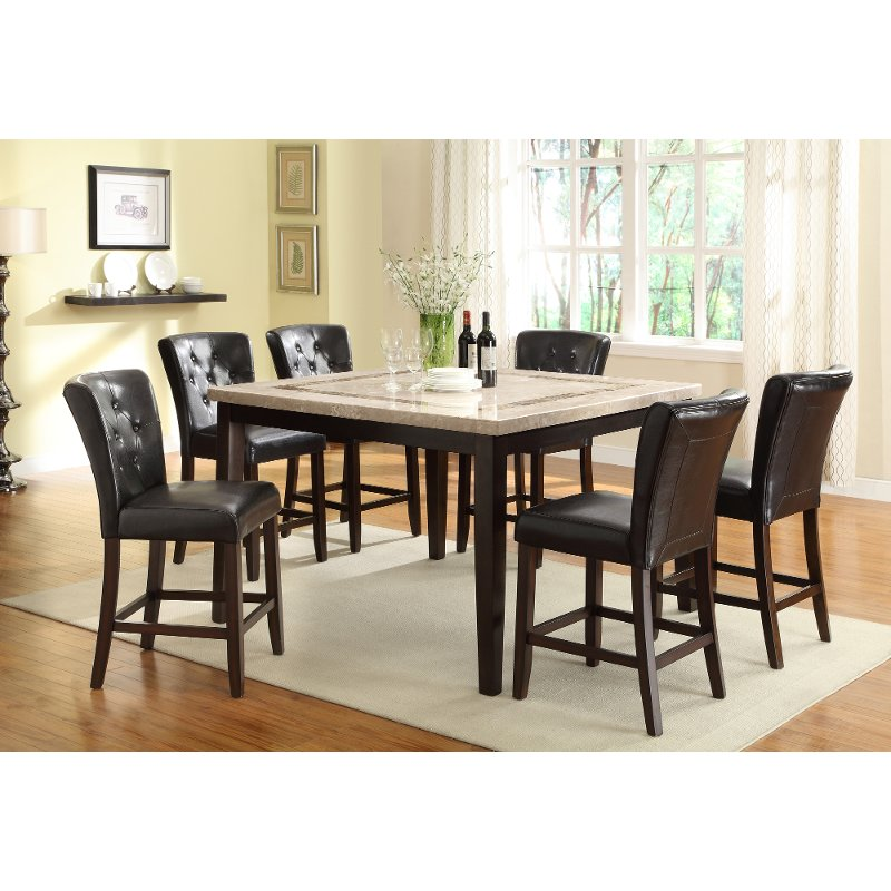Espresso Contemporary 5 Piece Counter Height Dining Set Montreal