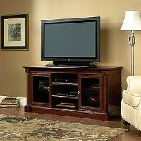 55 Inch Cherry Brown Tv Stand Palladia Rc Willey Furniture Store