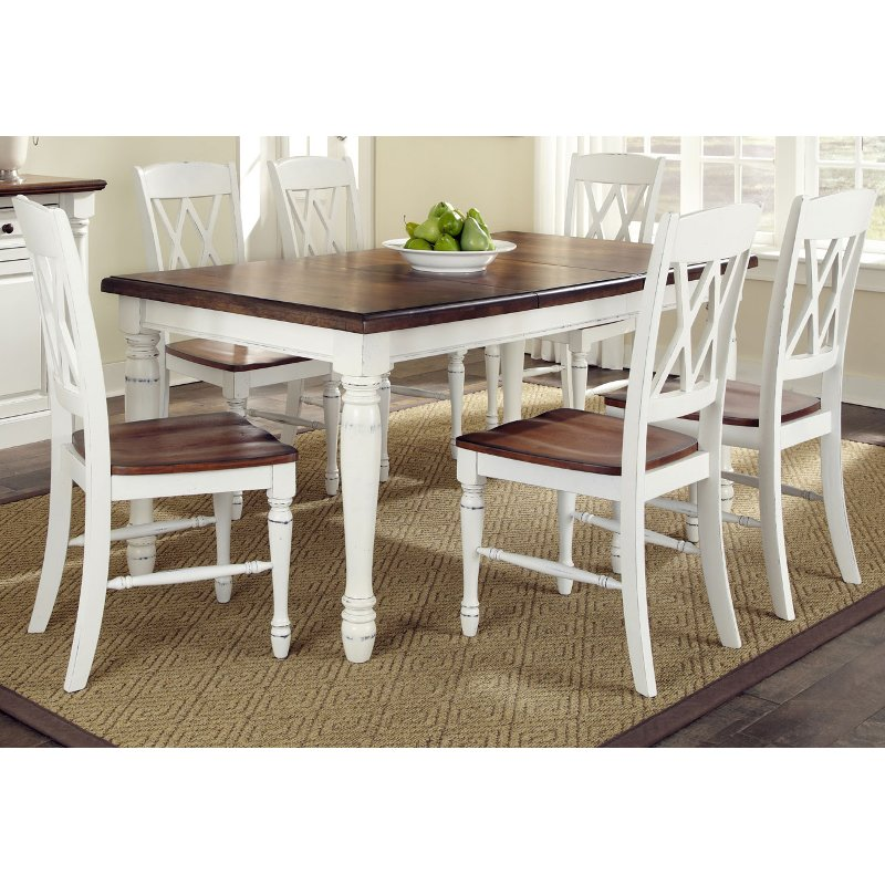 Monarch WhiteOak 7 Piece Dining Set