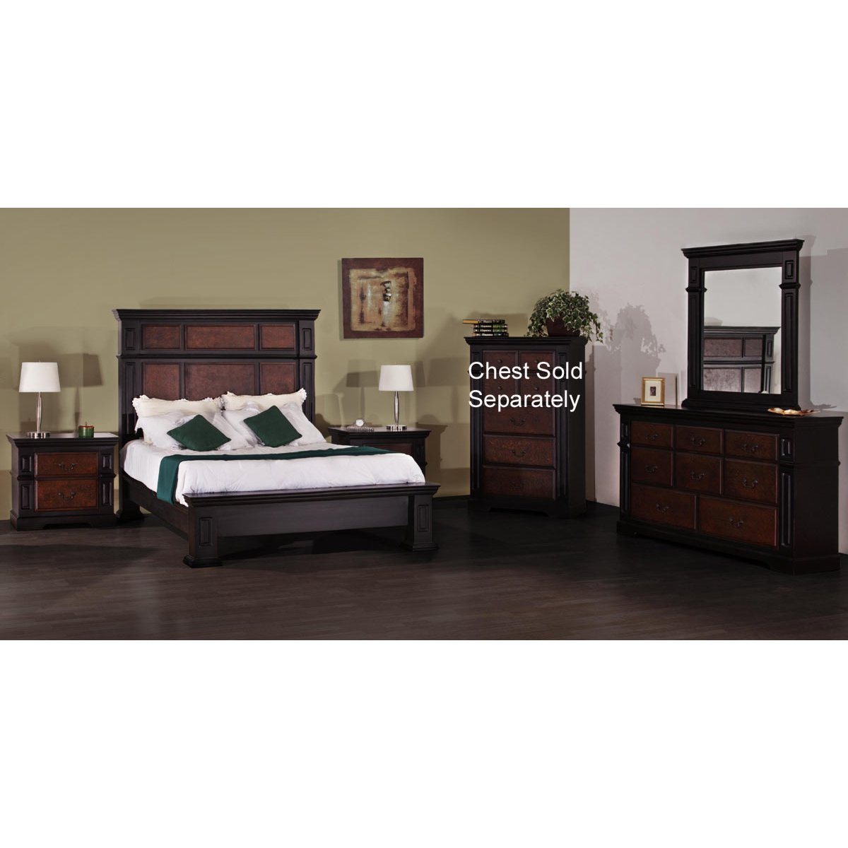 Nero Lupo 6 Piece Queen Bedroom Set