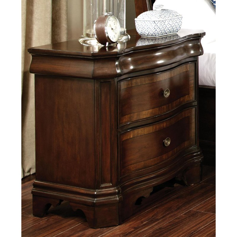 St james cherry nightstand for James furniture and mattress deals