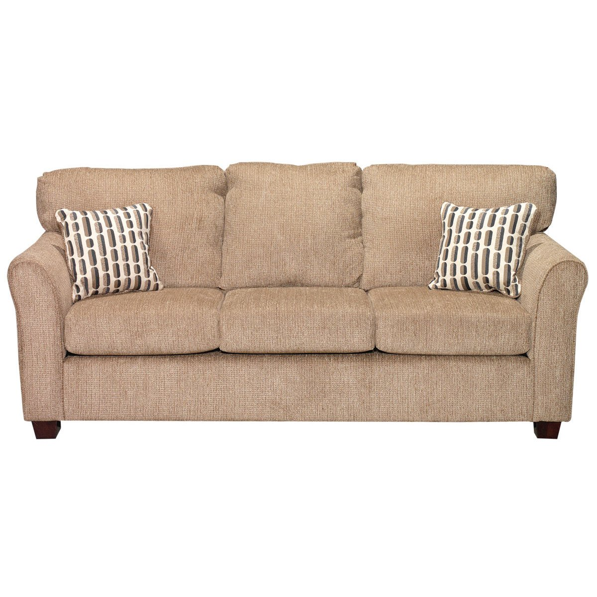 Wall St Natural Upholstered Casual Contemporary Sofa Sleeper