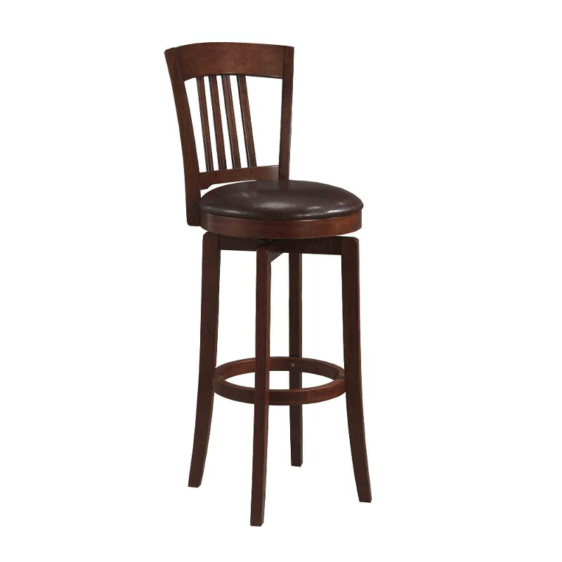 Brown 24 Inch Swivel Counter Height Stool Canton Rc Willey