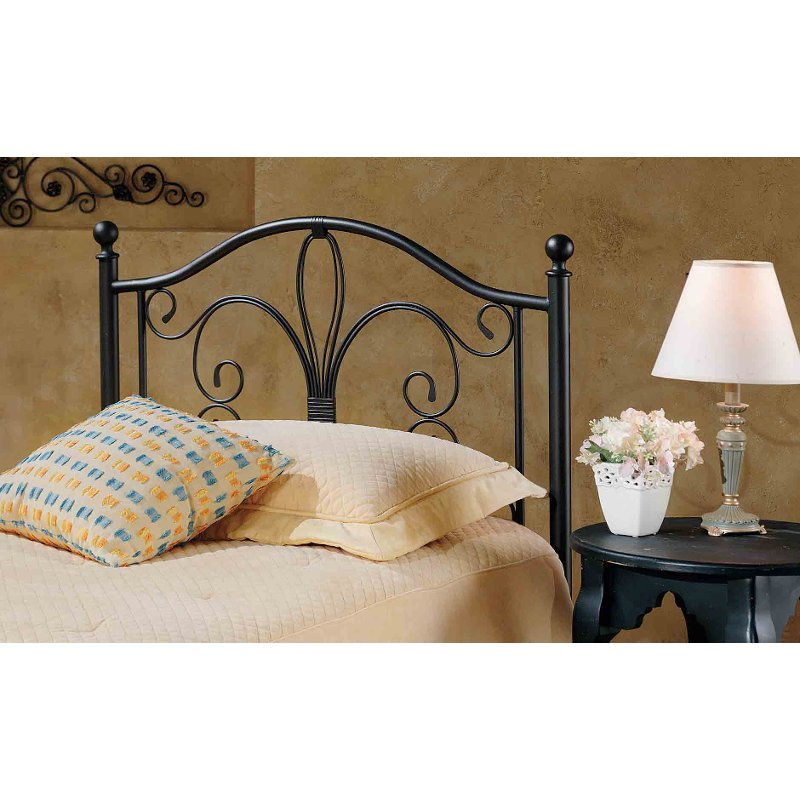 Furniture Outlet Milwaukee: Antique Brown Metal Twin Headboard - Milwaukee