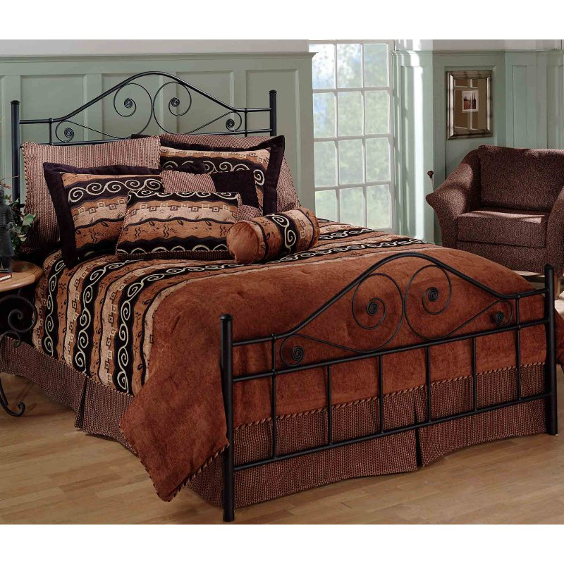 Black Full Metal Bed Harrison Rc Willey, Queen Metal Bed Frame With Headboard Only