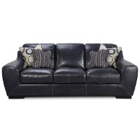 93 Blue Leather Sofa Rc Willey Furniture Store