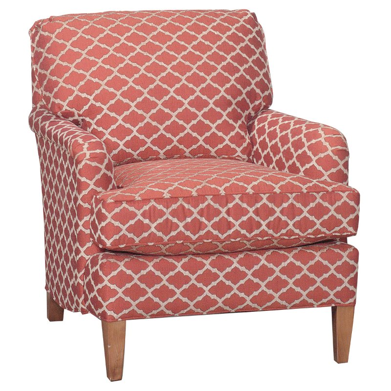 Coral Reef Motic Accent Chair: Keener 33 Inch Coral Upholstered Accent Chair