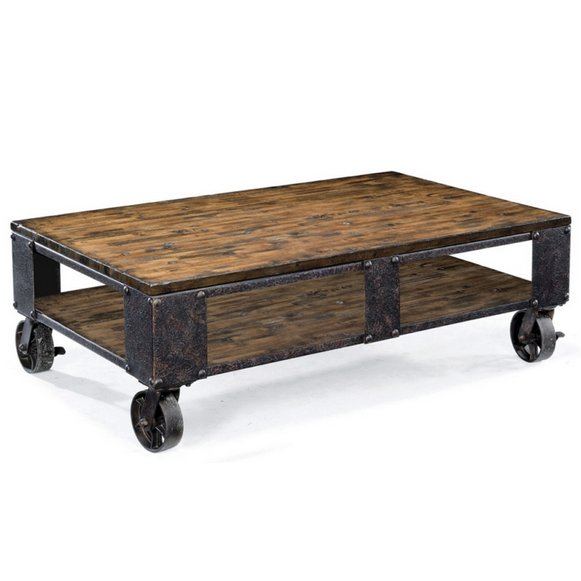 Coffee Table On Wheels Pinebrook Rc Willey Furniture