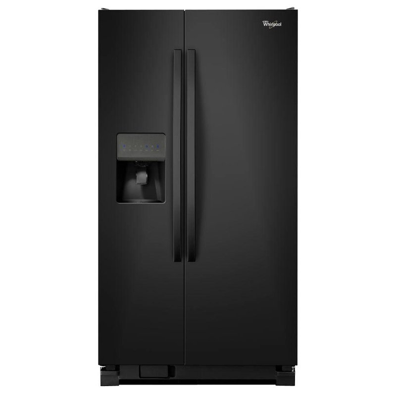 whirlpool 25 cu ft 36 side by side refrigerator. Black Bedroom Furniture Sets. Home Design Ideas