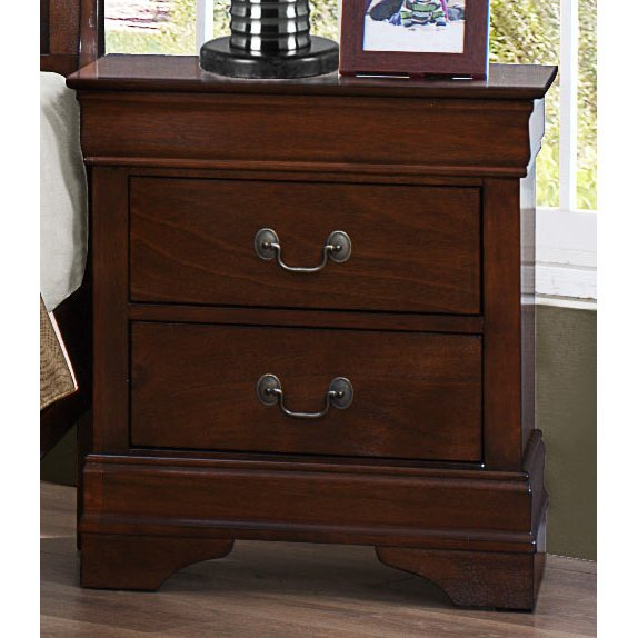 Willey Furniture Las Vegas: Mayville Brown Cherry Traditional Nightstand