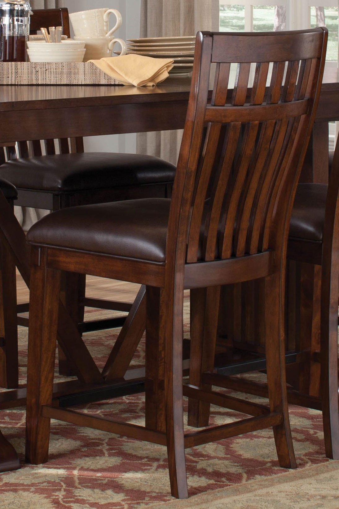 Artisan home 5 piece counter height dining set rc willey furniture store Artisan home furniture bar stools