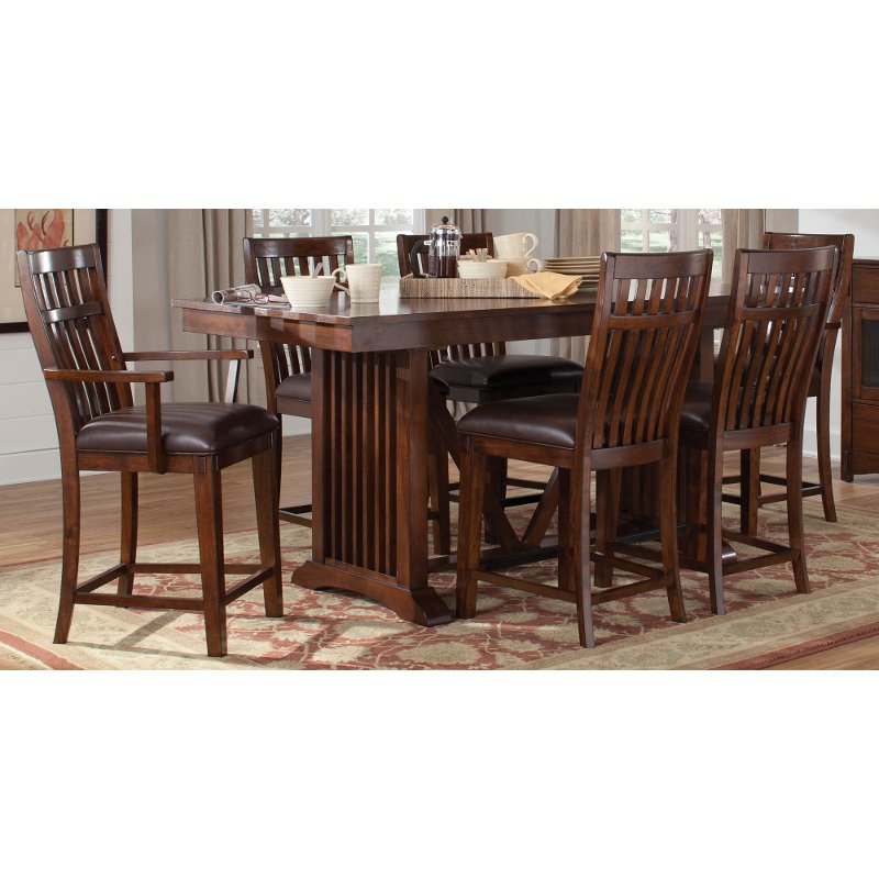 Artisan home 7 piece counter height dining set for 7 piece dining set