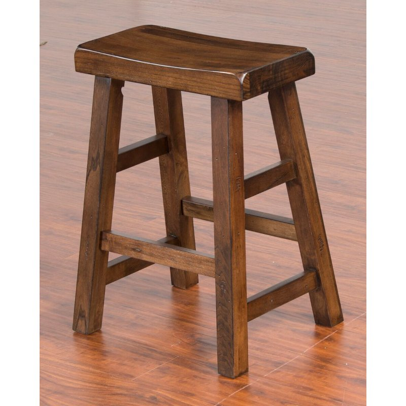 Saddle Seat Counter Height Stool 24 Inch Santa Fe Rc Willey