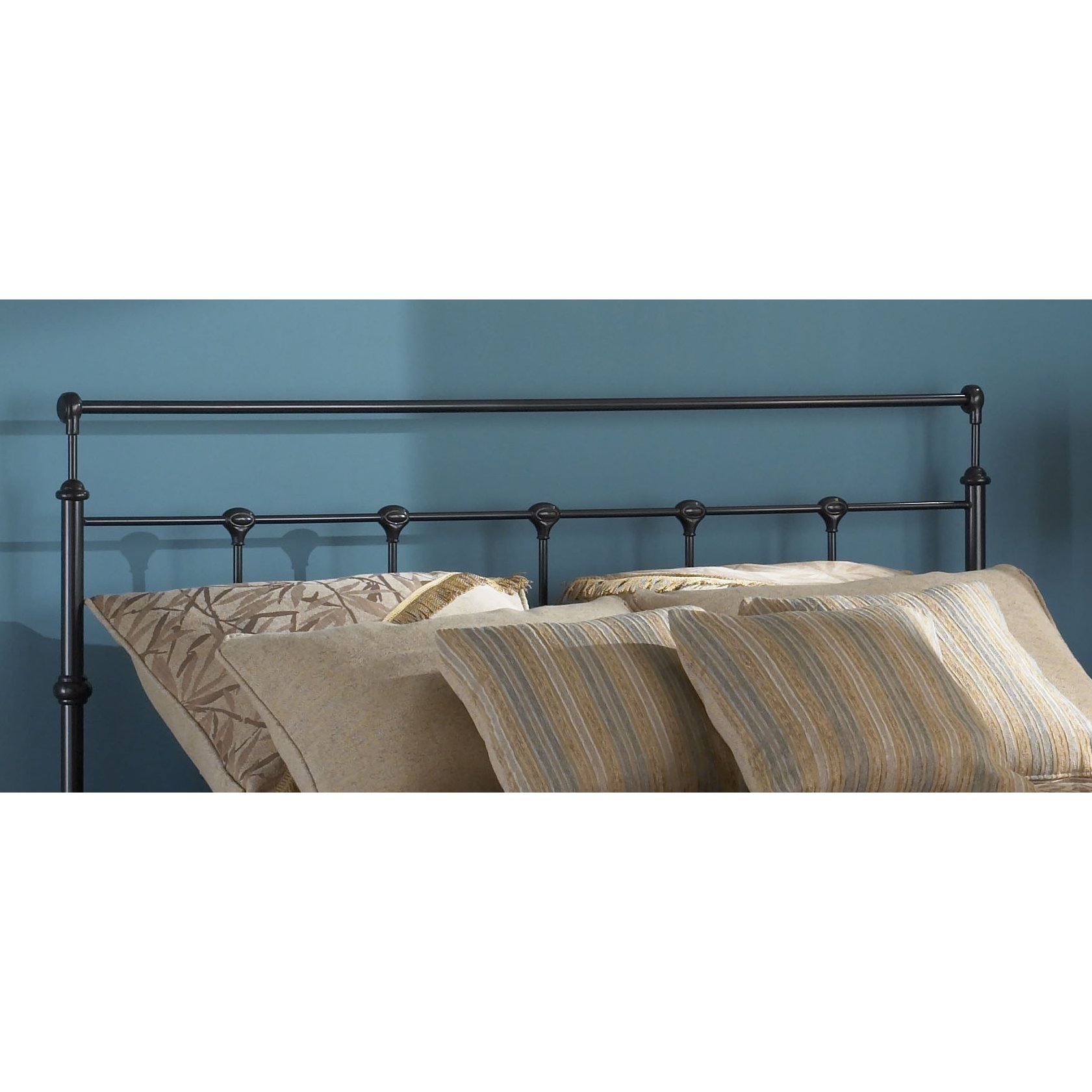 Mahogany Gold Metal Twin Headboard Winslow Rc Willey