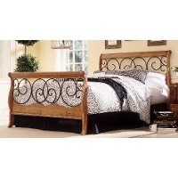 Dunhill Brown Honey Oak Full Bed Rc Willey Furniture Store