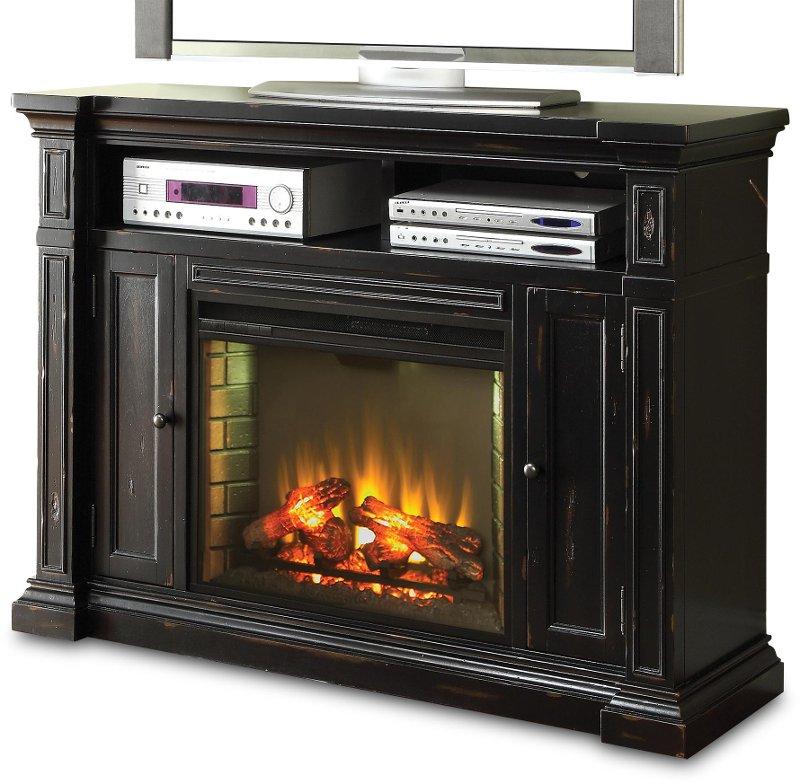 Manchester Black Media Fireplace