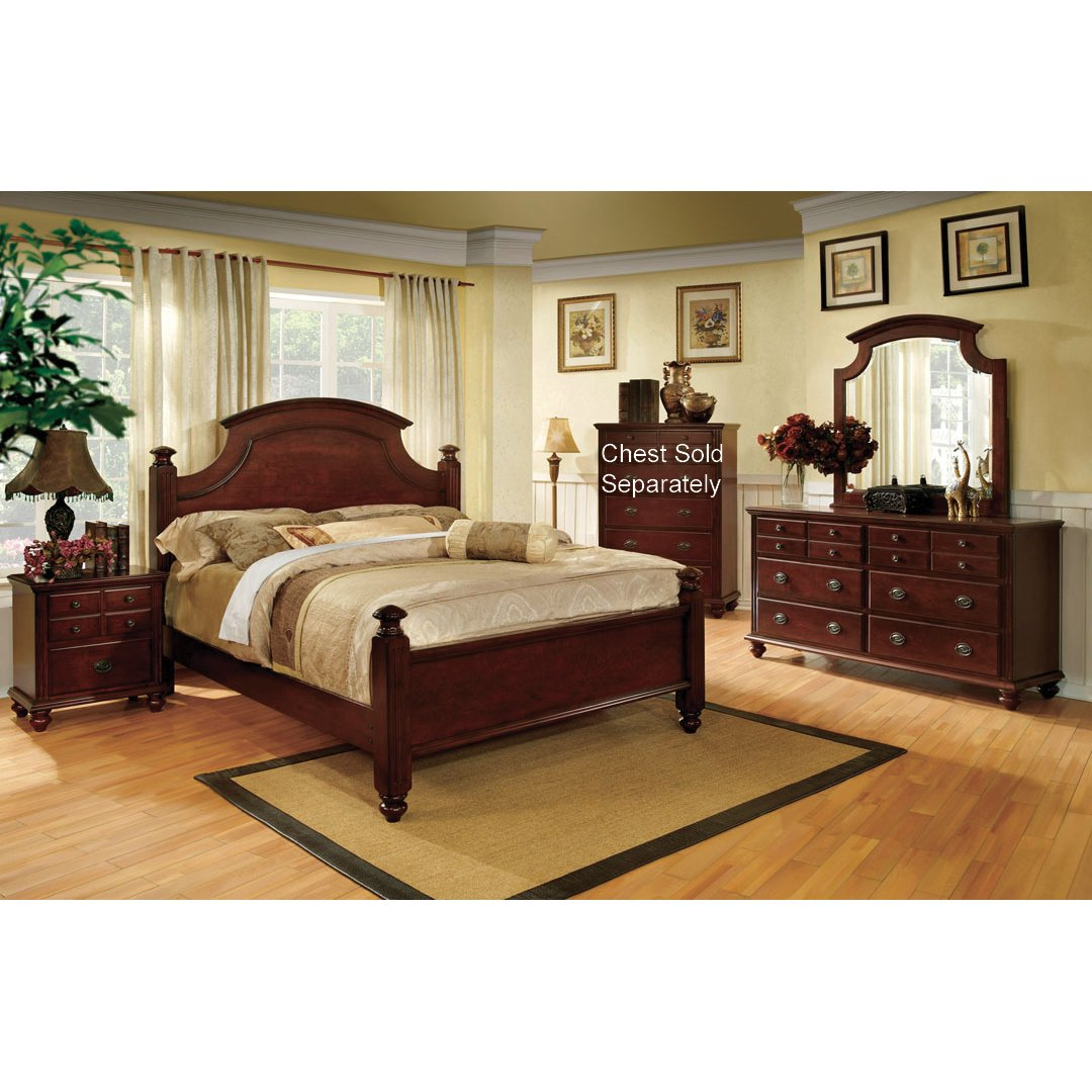 Gabrielle cherry 6 piece king bedroom set for Bedroom 6 piece set