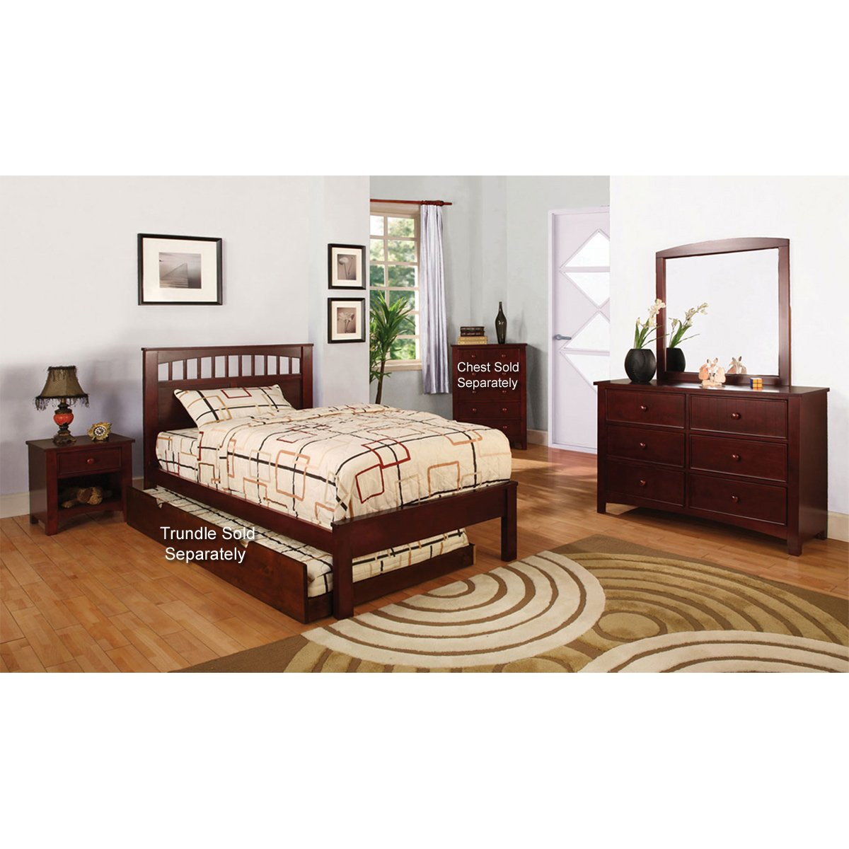 Bedroom Sets Furniture Stores: Carus 4 Piece Full Bedroom Set