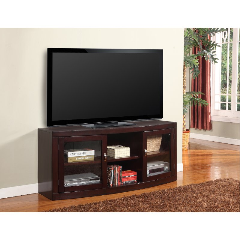 60 Inch Merlot Brown Tv Stand Biscayne Rc Willey Furniture Store