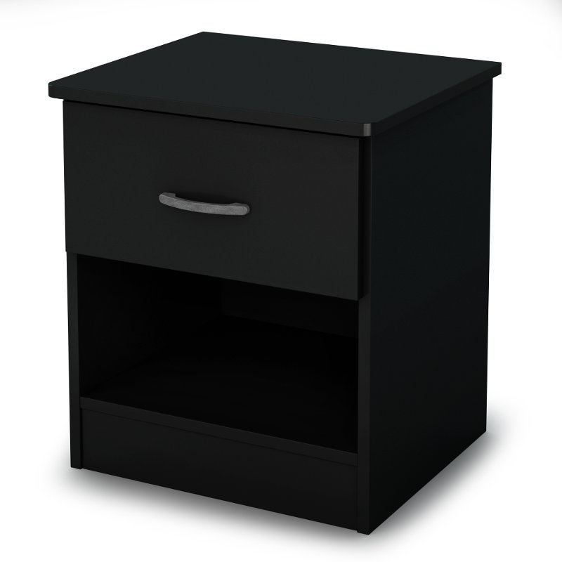 Libra Black Night Stand