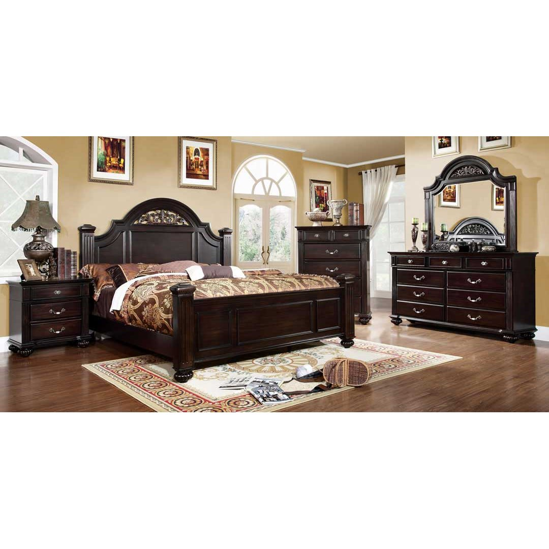 Import direct 6 piece cal king bedroom set for Popular bedroom sets