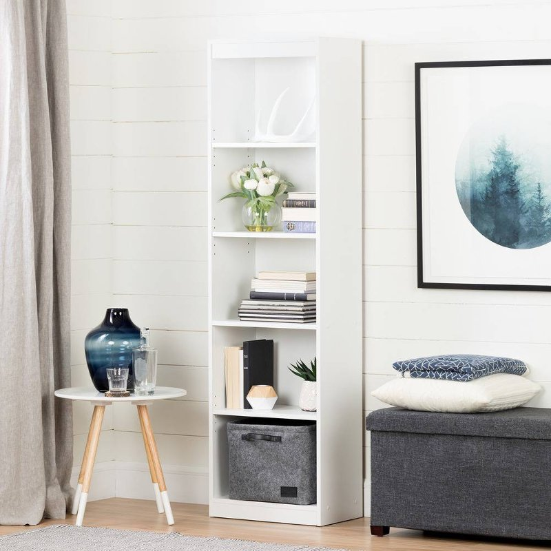 axess south shore 5 shelf bookcase. Black Bedroom Furniture Sets. Home Design Ideas