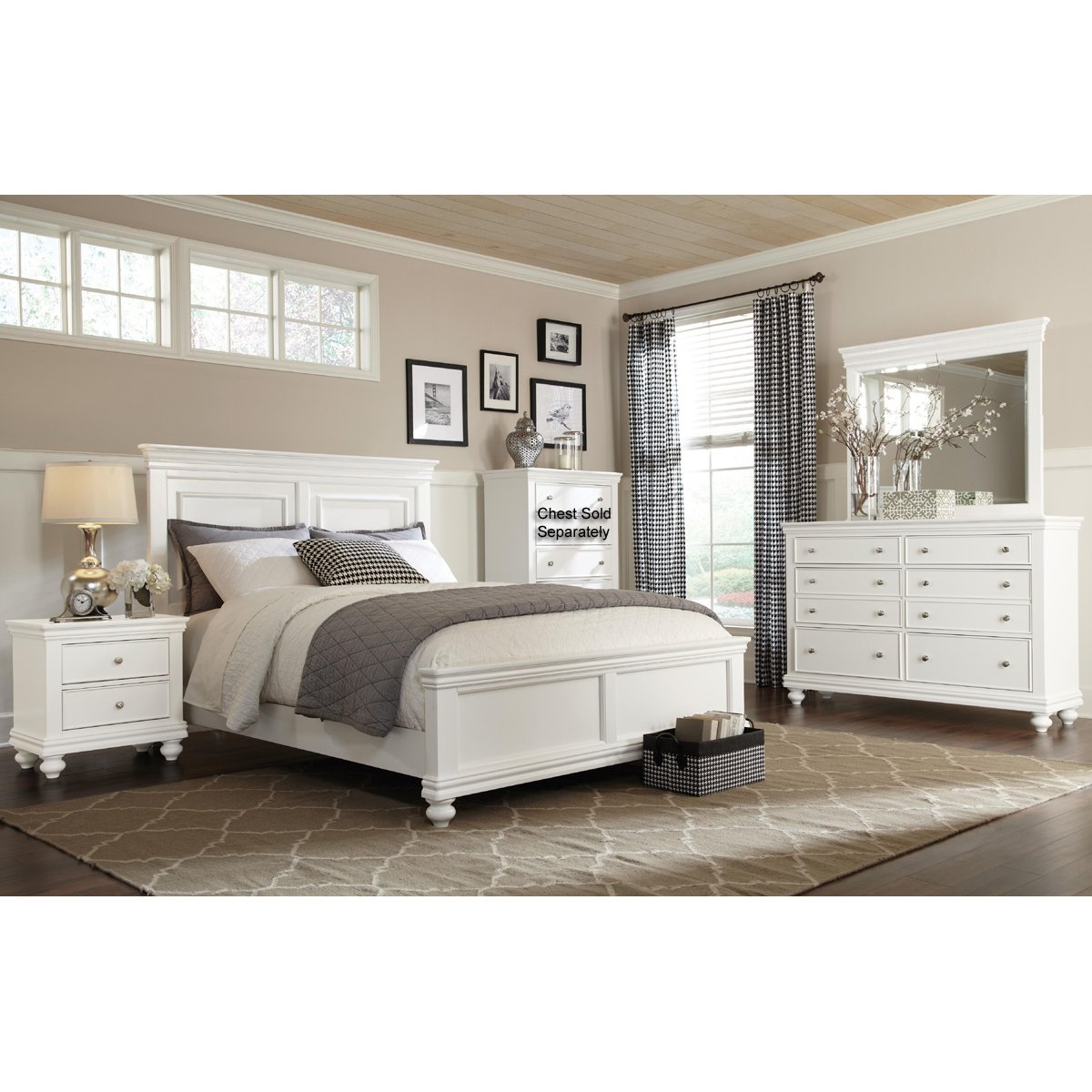 Essex 6 piece queen bedroom set for Furniture queen bedroom sets